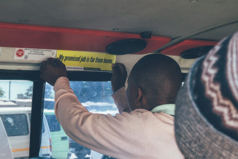 taxi and bus stickers